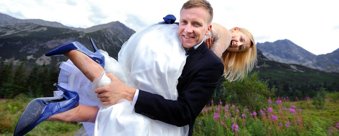 Ślub Magdy i Piotrka +plener na Kasprowym Wierchu