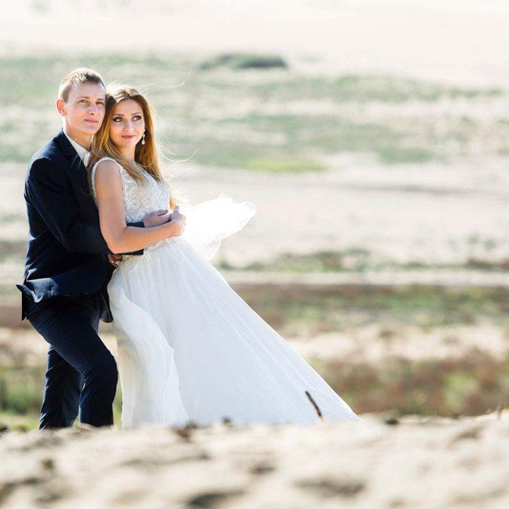 Paulina i Mateusz plener na pustyni.